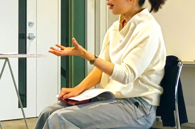 話し方のワークでも、感情に流されず、受け止める方法を体験できます。